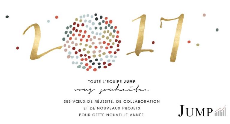 Toute l'équipe JUMP vous souhaite une merveilleuse année 2017 !